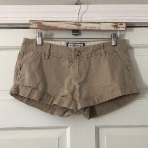 Abercrombie & Fitch Khaki Roll Cuff Shorts 4